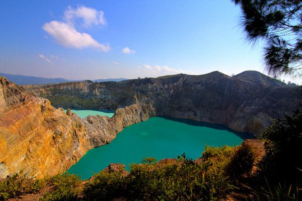 Bezienswaardigheden Indonesië: Kelimutu op Flores.