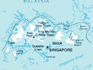 Kaart van Singapore