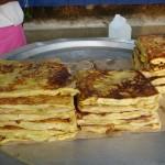 Een typisch gerecht uit de Maleisische keuken: murtabak