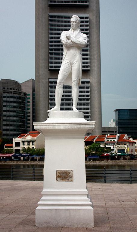 Raffles is één van de belangrijkste figuren uit de geschiedenis van Singapore
