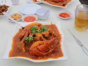 De chili krab is een klassieker uit de Singaporese keuken
