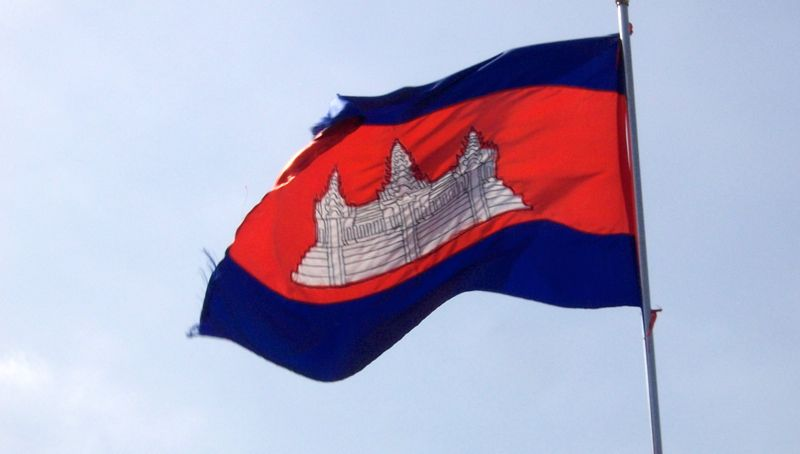 Cambodja in het kort. De Cambodjaanse vlag.