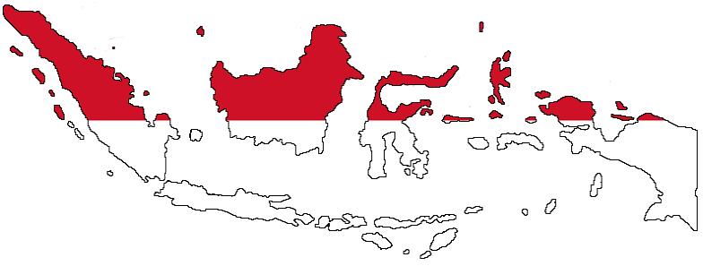 Indonesië in het kort: vlag en kaart van Indonesië