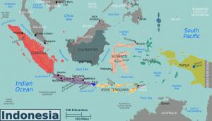 De kaart van Indonesië: een verzameling eilanden