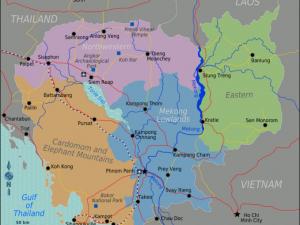 Kaart van Cambodja