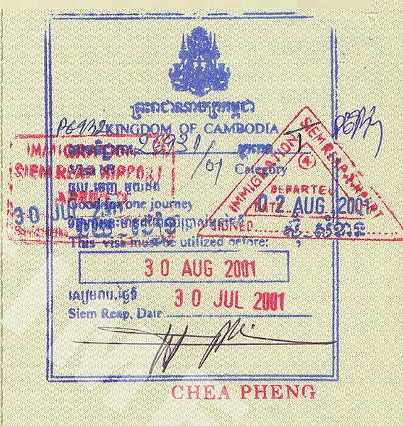 Je hebt een visum nodig voor Cambodja