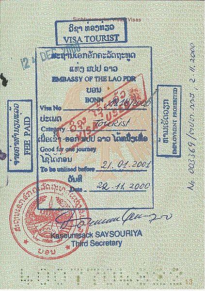 Je hebt een visum nodig voor Laos