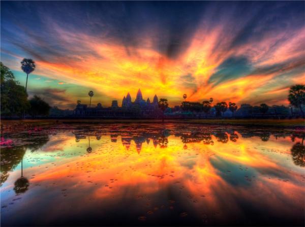 Angkor Wat is het bekendste UNESCO werelderfgoed van Cambodja