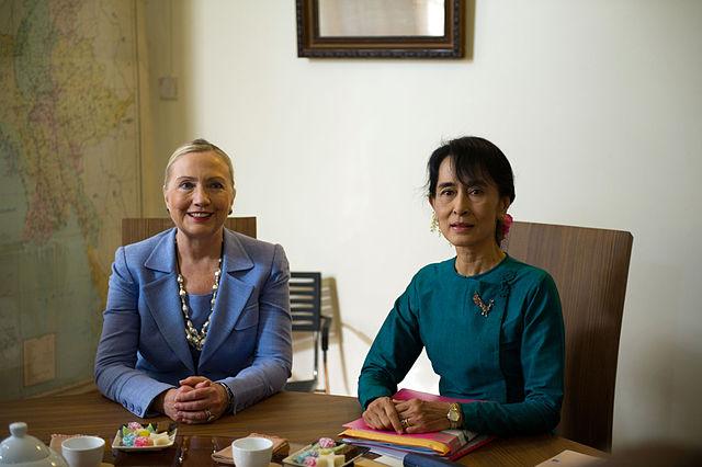 Aung San Suu Kyi speelt een belangrijke rol in de recente geschiedenis van Myanmar