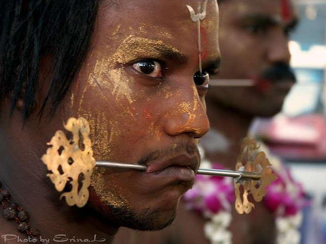 Thaipusam piercing