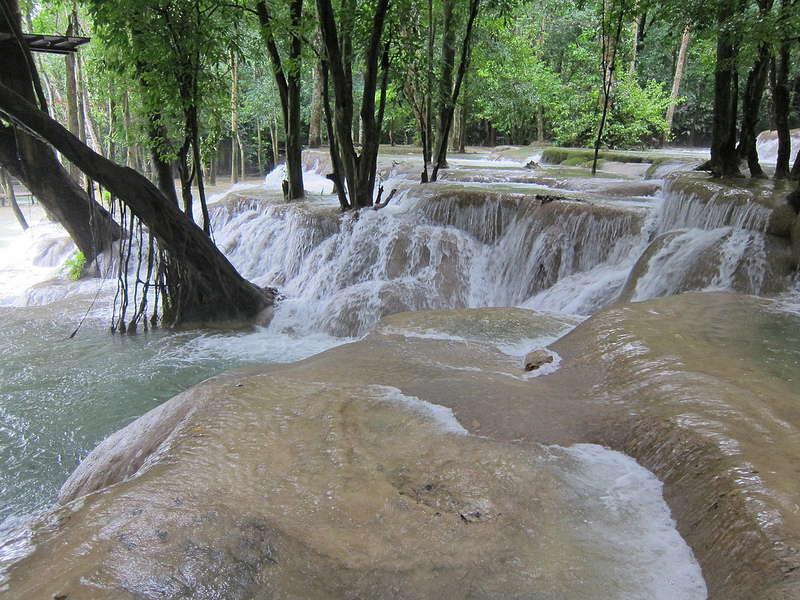 Tad Sae is één van de mooiste watervallen van Laos.
