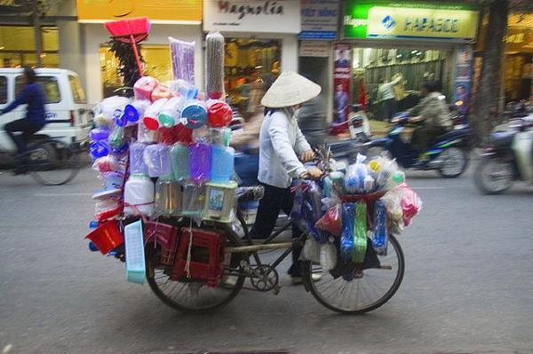 Levering met de fiets