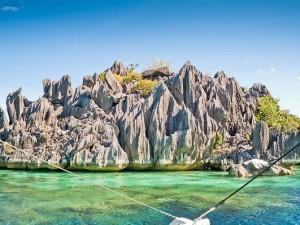 Rotsformaties bij Coron Island