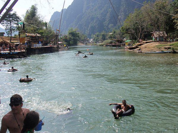 Tuben in Vang Vieng