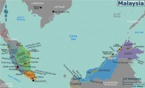Belangrijkste bezienswaardigheden van Maleisië kaart
