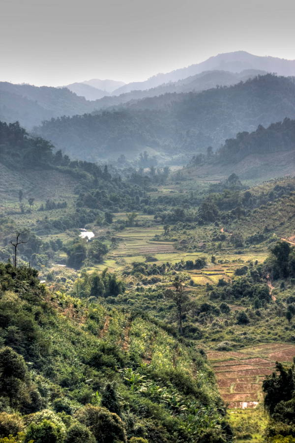 De regio van Luang Nam Tha