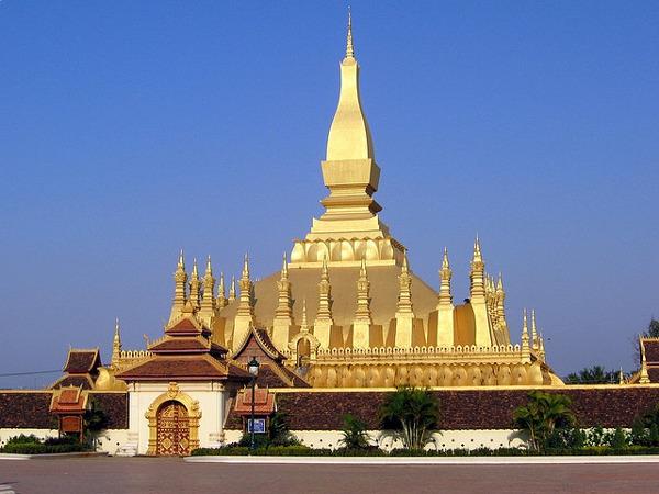 Pha That Luang is hét symbool van Laos en één van de bezienswaardigheden in Vientiane