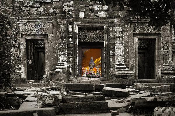 Wat Phu Champasak is één van de bezienswaardigheden van Laos, meer bepaald in het zuiden van Laos
