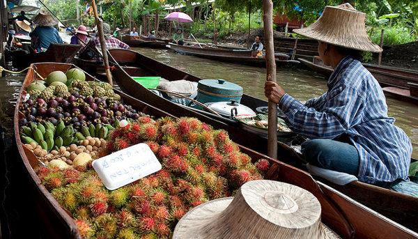 Damnoen Saduak is één van de bezienswaardigheden in Bangkok