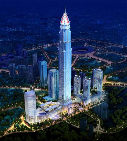 De Signature Tower in Jakarta, het nieuwe hoogste gebouw van Zuidoost-Azië