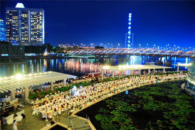 pop-up restaurants in Singapore: Dîner en Blanc