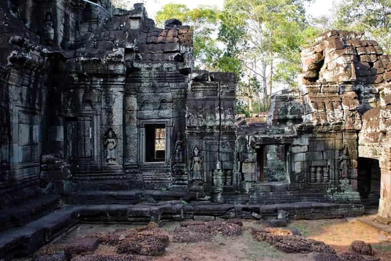 De Angkor tempel Banteay Kdei
