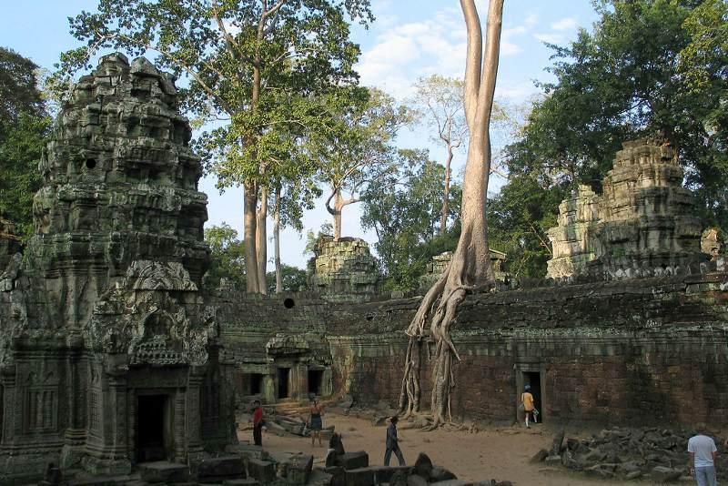 Te Prohm is één van de mooiste tempels van Angkor