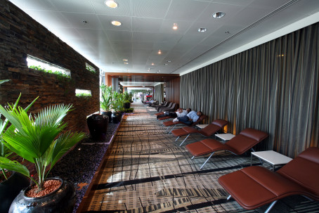 Changi airport: rest area