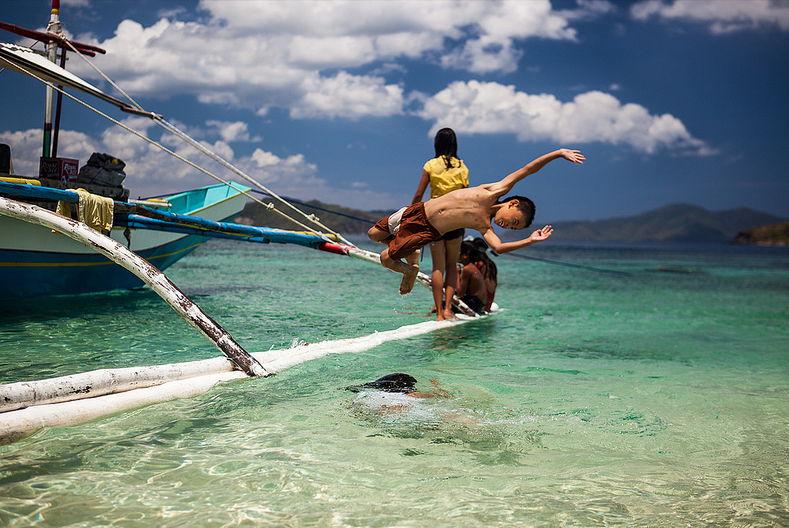 Port Barton, in het noorden van Palawan