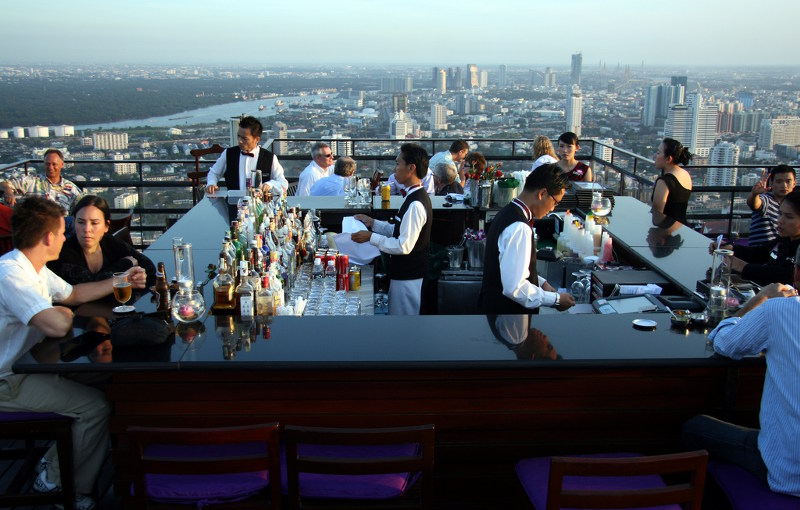Vertigo and Moon rooftop bar Bangkok