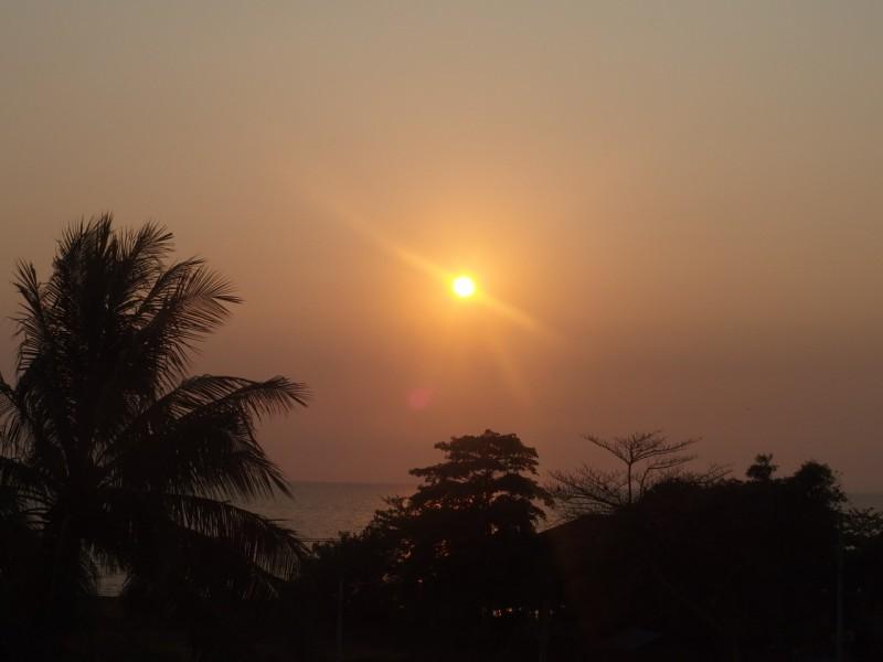 Cambodja, Kep view from guesthouse Visal Sak