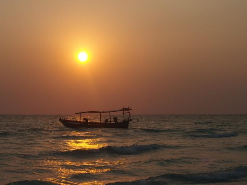 Koh Rong sunset Cambodja