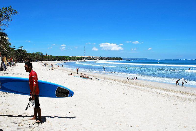 Kuta strand in Bali