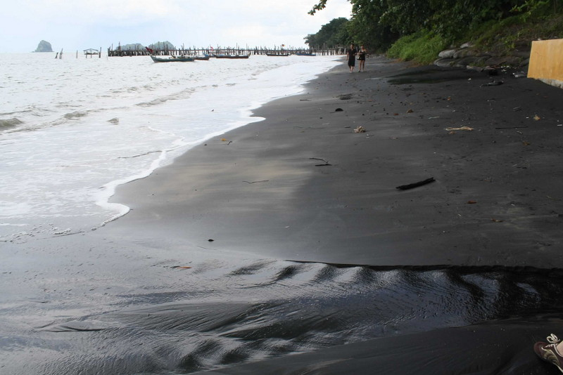 Black Sand Beach in Langkawi