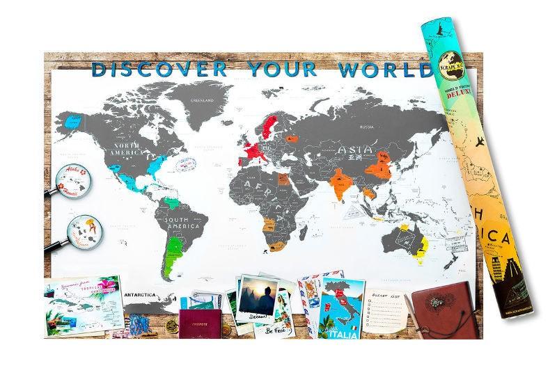 Kras Wereldkaart Deluxe