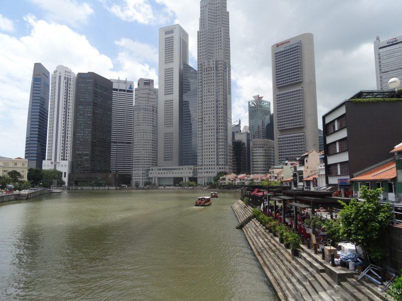 Singapore wandelen langs de rivier